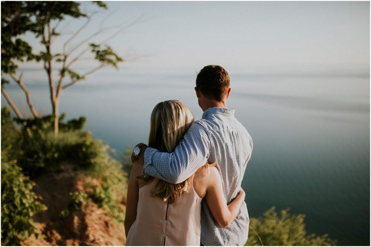 sleeping bear dunes engagement photography