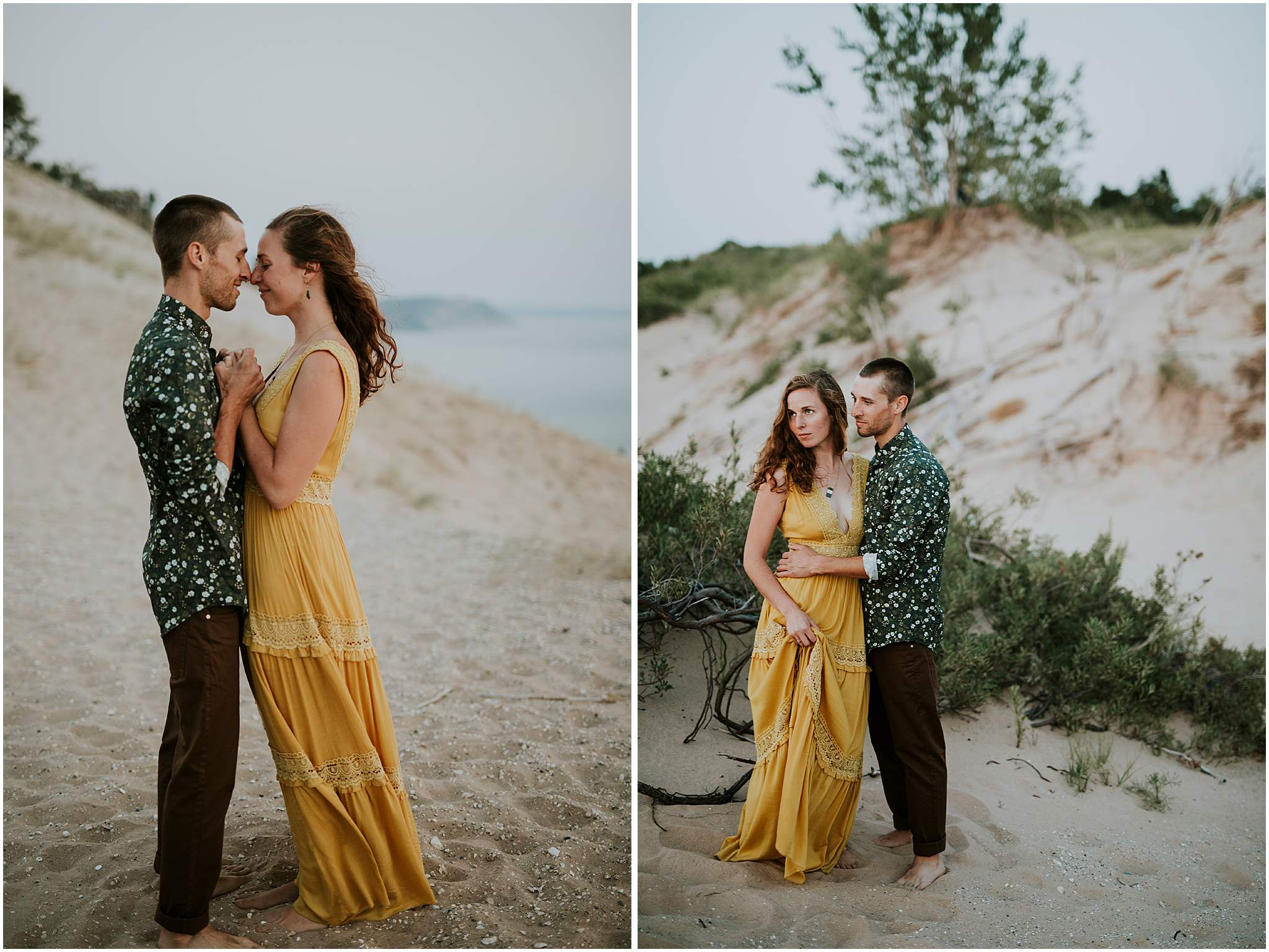 sleeping bear dunes couples session
