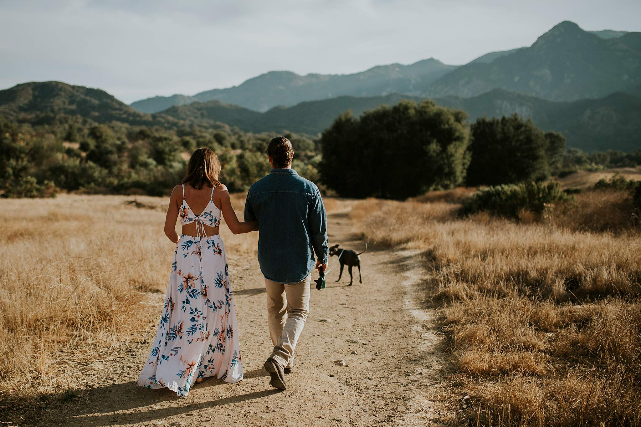 malibu creek state park engagement photos